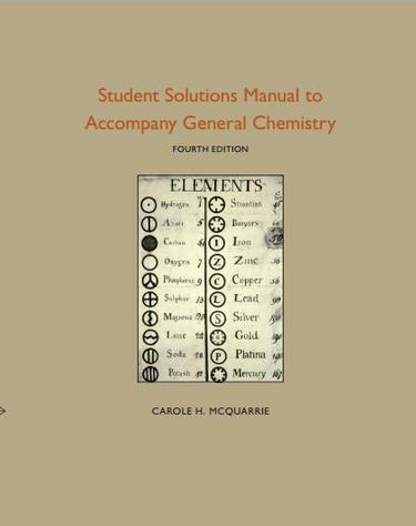 Student Solutions Manual to Accompany General Chemistry, Edition 4