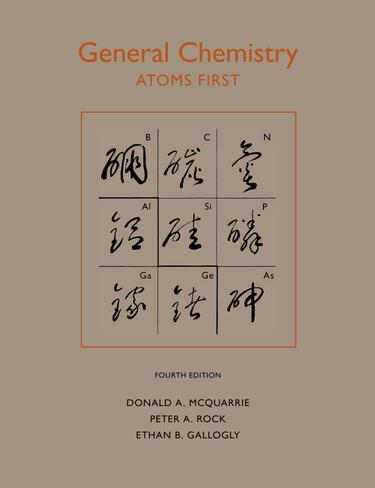 General Chemistry, Fourth Edition: An Atoms-First Approach